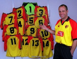 Season 1997/1998, Pic Copyright Alan Cozzi/Peter Cook archive, Watford's Steve Palmer who wore every numbered shirt during the season